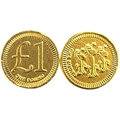 one pound chocolate coins - bag of 50 - in ribboned bag One Pound Chocolate Coins – Bag of 50 – in ribboned Bag 41UCqD3Rf L