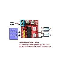 L298N PWM速度制御を超えるキット2.5AデュアルチャネルDCモータードライバーミニモジュール