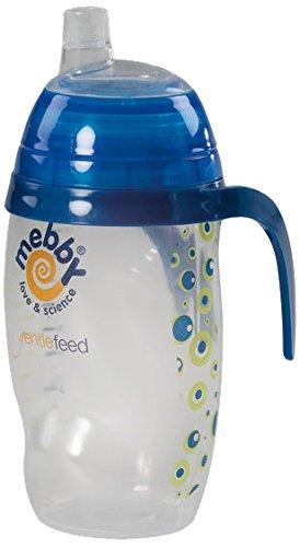 Mebby Tasse d'Apprentissage Anti-Gouttes 6+ Mois Bleu avec Bec en Silicone