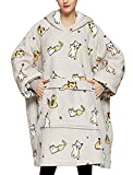 Wearable Blanket Hoodie for Adults Sherpa All Patterns Oversized Sweatshirt Blanket with Pockets