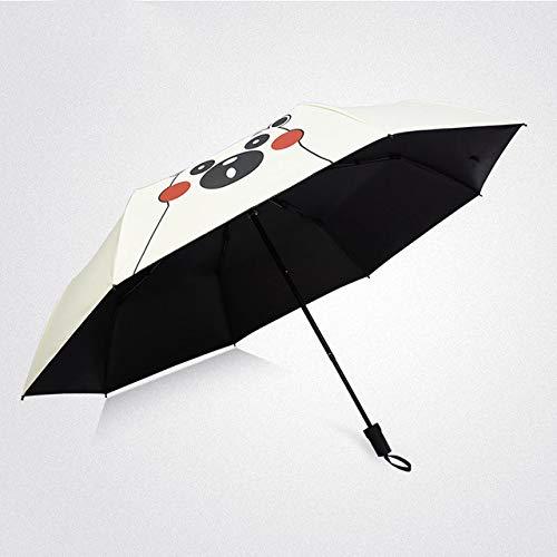 NJSDDB Paraplu Nieuwe dubbellaagse drie paraplu regen vrouwen kwaliteit goedkope mode anti-UV winddicht zon vrouwen paraplu Corporation, wit (wit) - 6929246997810