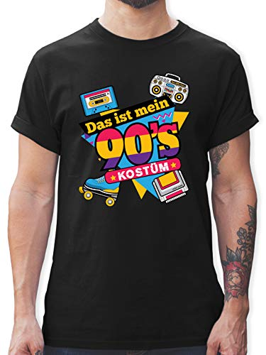 Karneval & Fasching - Das ist Mein 90er Jahre Kostüm - L - Schwarz - 90er-t-Shirt - L190 - Tshirt Herren und Männer T-Shirts