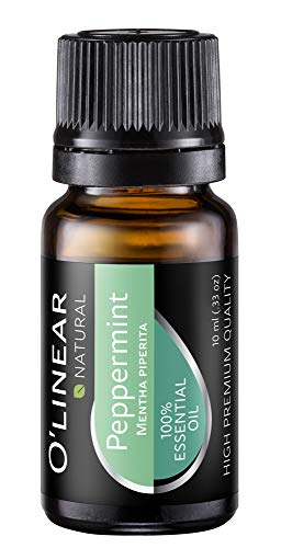 Peppermint Essential Oil - Therapeutic Grade - Aromatherapy Natural & Pure Peppermint Oil 10ml - Perfect for Diffuser, Aromatherapy, Mental Support, Muscle Relaxation - High European Quality Oil