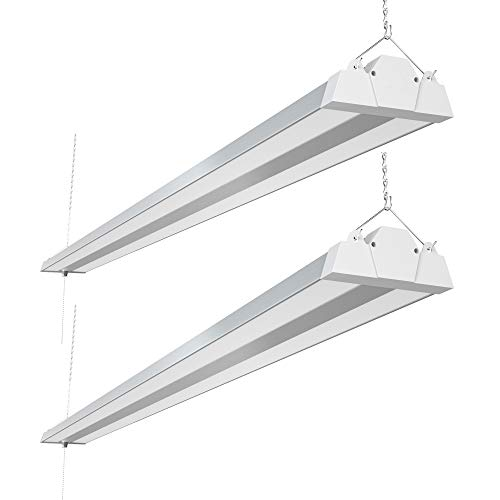 Freelicht 8FT LED Shop Light, 100W, 11000 Lumen, 5000K Daylight, 8 Foot LED Linear Fixtures for Garage, Workshop, Plugin with Power Cord, Pull Chain, ETL Certified, 2 Pack