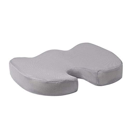 VEDY Cojín de Asiento Mejorado con Gel, Gel ortopédico Antideslizante y cojín de Espuma de Memoria con cóccix Gel Enhanced Seat Cushion,Non-Slip Orthopedic Gel & Memory Foam Coccyx Cushion (D)