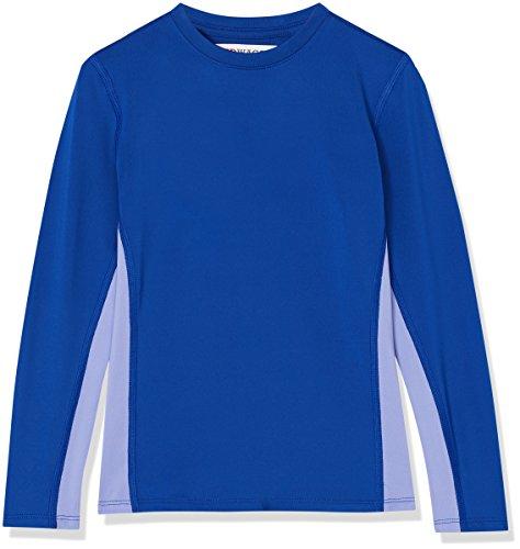Marca Amazon - RED WAGON Camiseta Deportiva de Paneles Niñas, Azul (Surf The Web/deep Periwinkle), 116, Label:6 Years