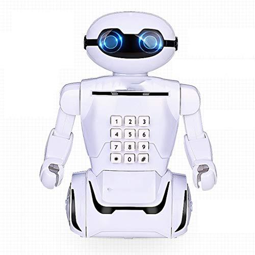 Zunruishop Geldkassette Kinder Anti-Fall-Sparschwein Creative Robot Passwort Box Deposit Machine Sparschwein für Mädchen
