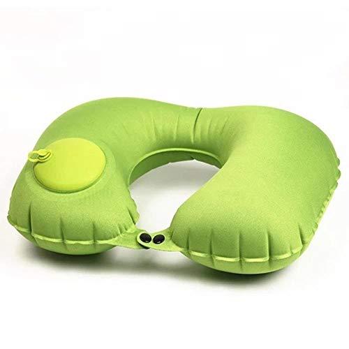 Almohada de viaje en forma de U Almohada para el cuello Almohadas inflables de aire para automóvil Cojín para el cuello Reposacabezas de viaje Plegable Accesorios para automóvil portátiles, Verde, China