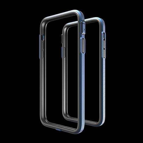 iPhone 12/12Pro SHOCKLAYER Case Inspired by Bulletproof Technology. Best in Class Aluminum Bumper Case! (Indigo Blue)