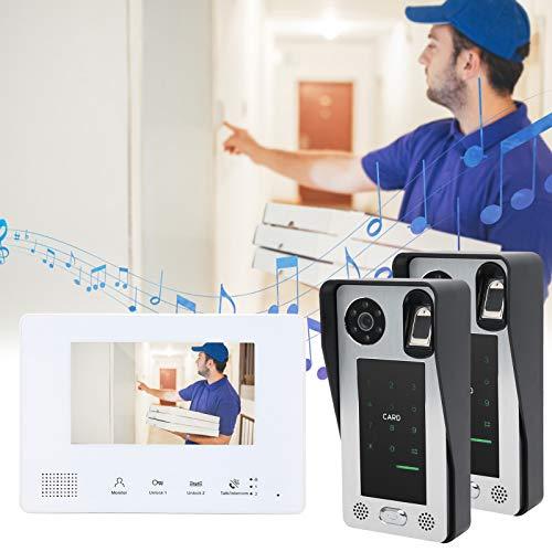RBSD Timbre con Video, intercomunicador con Video con Dos Cables, LCD de Alta definición y 7 Pulgadas, para Uso residencial