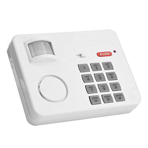 Sistema de alarma de seguridad para el hogar Kit simple de alarma contra intrusos antirrobo, sensor de movimiento PIR inalámbrico Contraseña de alarma Teclado de seguridad para el hogar Detectores