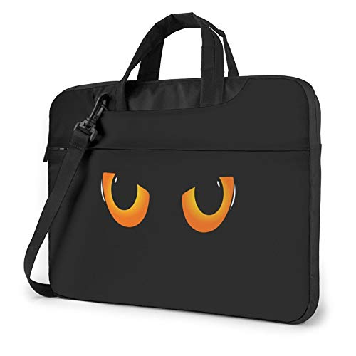 XIAONI Animal Cat Eyes Laptop Shoulder Bag Compatible with 13-15.6 Inch MacBook Pro,MacBook Air,Notebook Computer,Removable Shoulder Strap Waterproof Carrying Briefcase Sleeve for Men Women