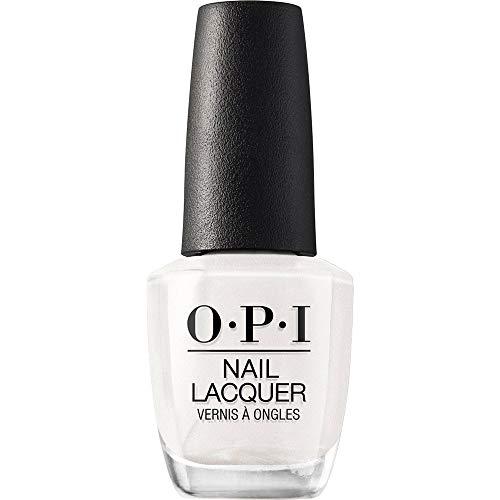 OPI Nail Laquer - Esmalte Uñas Duración de Hasta 7 Días, Efecto Manicura Profesional, 'Kyoto Pearl' Blanco perlado - 15 ml