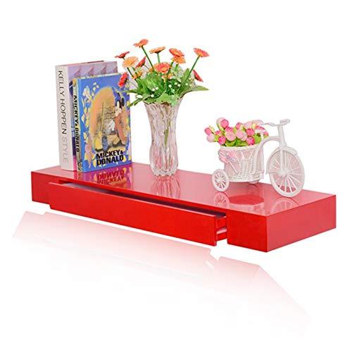 Repisa flotante Almacenamiento multifunción creativo Mesa de tocador colgando contra el aprendizaje de la pared Escritorio de computadora Panel a base de madera 80x35x8cm (Color : B)