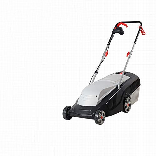 1000W Cortacésped eléctrico, cortacésped manual doméstico pequeño, hoja de acero al manganeso de alta resistencia, para césped de jardín G,1000W