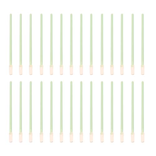 Solustre 100 Stück Reinigungsabstriche Fusselfreier Reinigungsschwammstab Mehrfach Verwendbarer Antistatischer Wischstab für Tintenstrahldrucker Pistolenreinigung Optische Ausrüstung Kameras Sensoren.