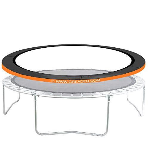 Greaden beschermend kussen Oranje voor trampoline Freestyle Ø 305 cm, hoogwaardig & weerbestendig