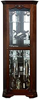 dark walnut curio cabinet