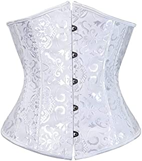SYMG Printed Court Corset, Sculpted Waistcoat Wedding Dress, Sexy Bottoming Waistband, with Thong, Body Shaping Waist shapewear women (Size : 6XL)