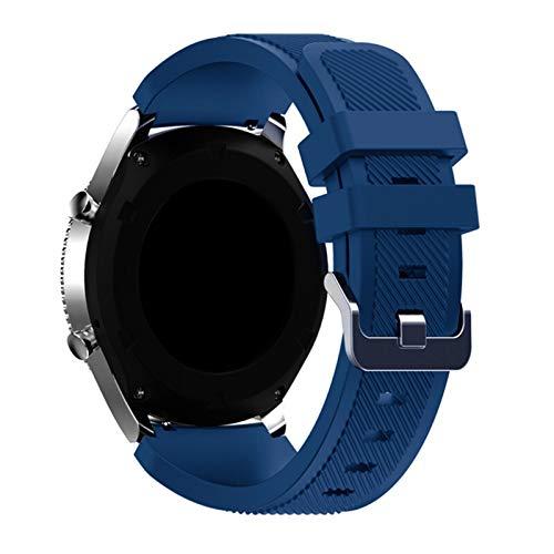BAAIFC Correa para Samsung Galaxy Watch 46 mm/42 mm/active 2 Gear S3 Frontier para Huawei Watch Gt 2e/2 gts Correa de reloj de 20/22 mm (color de la correa: cian oscuro, ancho de la correa: 22 mm)