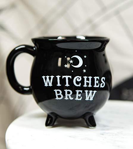 Ebros Wicca - Taza de café y té, diseño de luna sagrada y luna