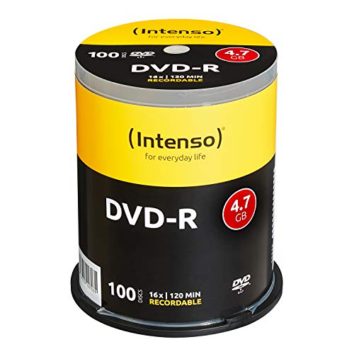 Intenso DVD-R 16x Speed 4,7GB (100er Spindel DVD-Rohlinge)