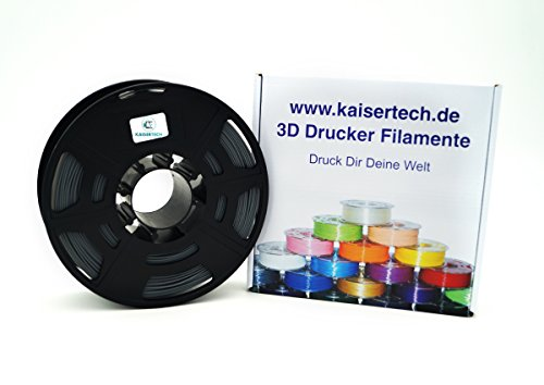 Kaisertech - Filament PLA 1.75 mm 1 kg spool 3D printer, PLA filament 1 kg spool 3D printer 1.75 mm - many colours - tolerance with diameter is +/- 0.02 mm (PLA 1.75 mm, grey).