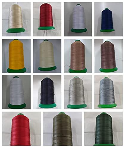 Bobina di filo per macchine da cucire, filato 100% poliestere, rocchetto di altissima qualità (Beige)