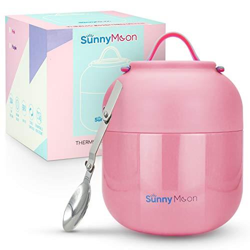 SunnyMoon® Thermobehälter für Essen - 500 ml - hält Ihr Essen 12 Stunden lang warm/kalt - Thermobecher für Suppen oder Speisen- Warmhaltebehälter praktisch, handlich und perfekt für unterwegs