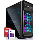 Gaming PC/Multimedia Computer inkl. Windows 10 Pro 64Bit! - AMD Quad-Core A10-9700 Pro 4x3.8GHz - Radeon HD R7 Grafik mit 4GB HyperMemory 8xCore APU - 16GB DDR4 RAM - 256GB SSD - 24-Fach DVD