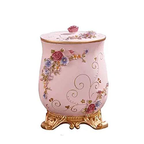 FZYE Bote de Basura de baño con Tapa - Papelera pequeña de Resina Decorativa Papelera para pañales/Papel / 7.87x10.23 Pulgadas