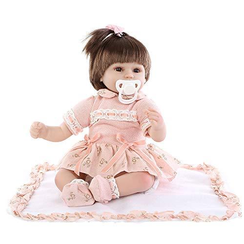 Babypuppen Reborn Baby Puppe Realistische wiedergeborene Puppe 45CM Reborn Baby Doll Lebensechte weiche Vinylsilikonpuppe