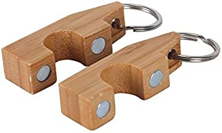 Amarine Made Pair of Portable Bamboo Fly Fishing Magnetic Rod Guard Fishing Rod Holder