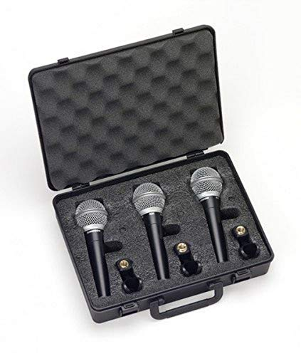 Samson R21 Dynamic Vocal Microphone - 3-Pack with Case