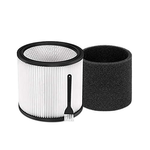 DRIBET Cartridge Filter Replacement Parts for Shop-Vac 90304 90333 90350, Compatible with Most Wet/Dry Vacuum Cleaners 5 Gallon and Above