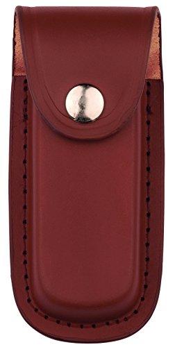 Herbertz Messer Etui - braunes Leder - eingeschnittene Gürtelschlaufe - für Messer mit 11 cm Heftlänge