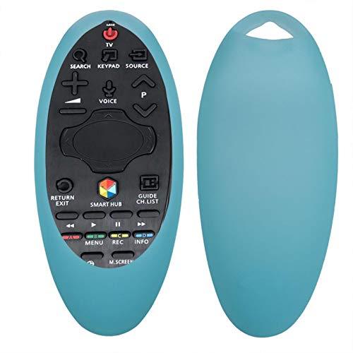 Surebuy Funda de Silicona a Prueba de Golpes para el Control Remoto de Samsung, para Samsung TV, para el Sensor del Control Remoto(Turquoise Blue)