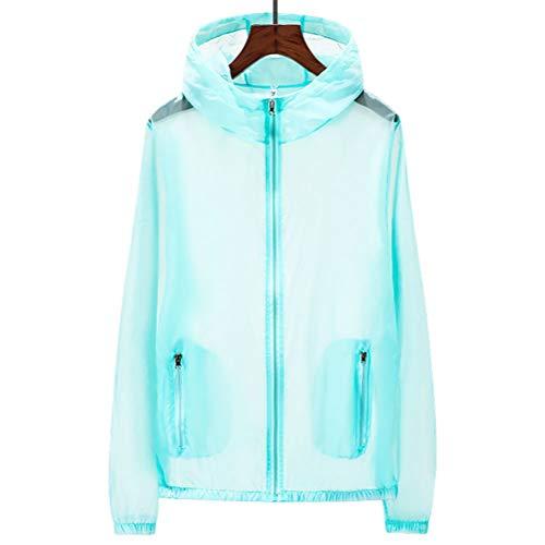 Vêtements De Peau à Manches Longues Crème Solaire à Capuche Sun Protect Vêtements Solid Color Grande Taille Hommes et Femmes Costumes De Pêche,Blue1,3XL