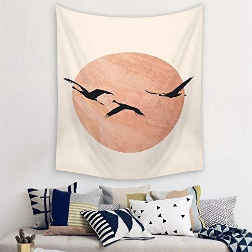 BFDSJU tapizTapiz psicodélico Luna cambiante Colgante de Pared brujería Hippie Tapiz de Pared Naturaleza Paisaje decoración del hogar