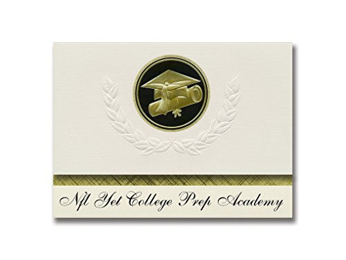Signature Announcements Nfl Yet College Prep Academy (Phoenix, AZ) Graduation Announcements Presidential Style, Elite Paket mit 25 Kappen und Diplom-Siegel.