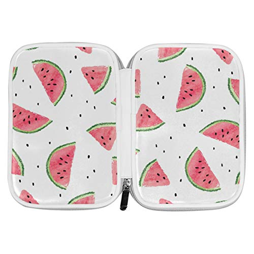 Bardic Pen Pencil Case Watermelon Seeds Makeup Brush Bag Travel Organizer Cosmetic Pouch Passport Holder for Men Women