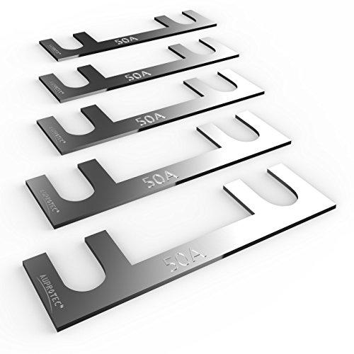 AUPROTEC Sicherungsstreifen Blattsicherung - Blechsicherung 30A - 150A Auswahl: 50A Ampere, 5 Stück