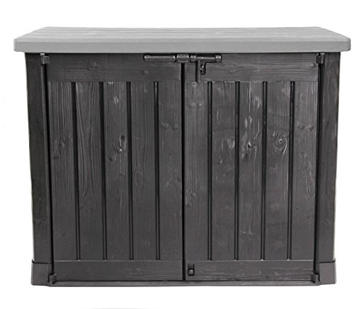 Keter Store It Out Max garden box, garbage can, appliance box, shed for 2 x 240 liter garbage cans.