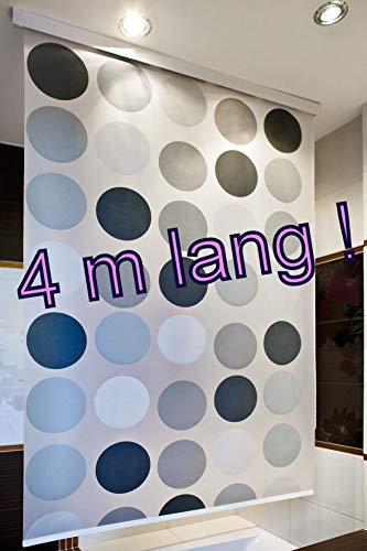 KSHANDEL24 PERFEKT FÜR HOHE Decken! Kassetten DUSCHROLLO 4 m LANG Retro DUSCHVORHANG ÜBERLÄNGE 140 x 400 cm! Shower Rollo Curtain!