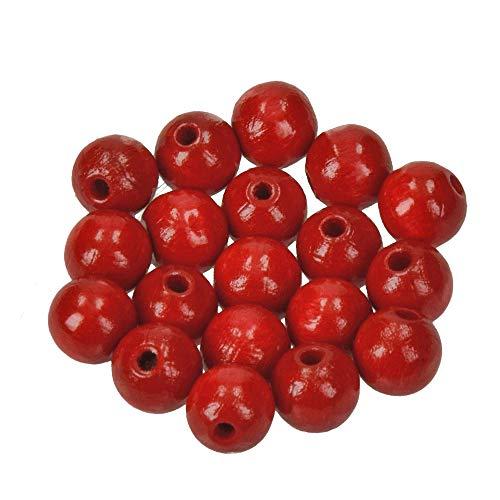 EFCO 1400829 10 mm 53-Stück Holzperlen, Rot