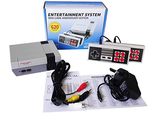 Familie Classic Mini Gaming Konsole Plug & Play Classic-Minikonsole, integriert in 620 Classic Retro Games-Konsole im Dual-Player-Modus PAL NTSL-Unterstützung TV-Ausgabe Bring Back Childhood Memory