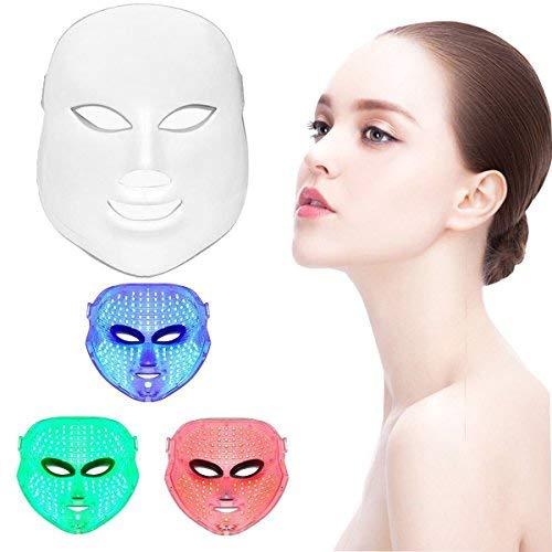 Xuehaostore Lichttherapie-masker met 3 kleuren, led, foto, verjonging, schoonheid, gezichtsverzorging, anti-rimpel, anti-acne schoonheidsmasker