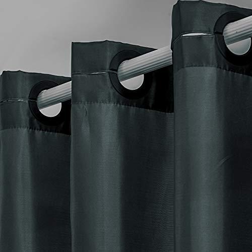 cortinas de baño antimoho oscuras