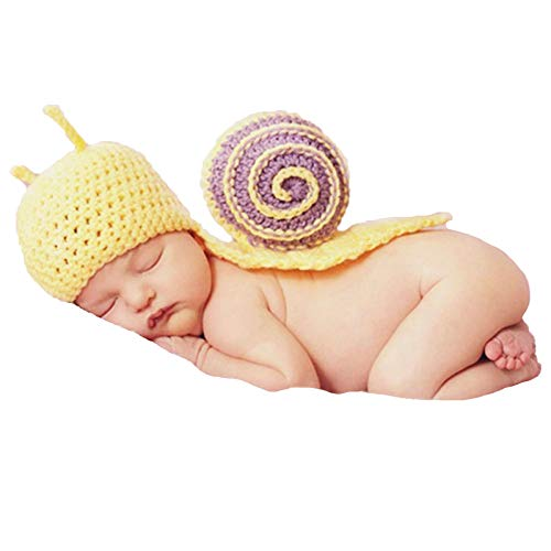 Disfraces de fotografía para bebés Ropa de fotos de caracol recién nacido bebé niña niño traje fotografía foto recién nacido fotografía ropa regalo conjunto Accesorios de fotografía de ropa de bebé