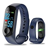 zhiang M3 Smart Fitness Tracker,Waterproof Activity Watch with Color Screen Heart Rate Monitor Blood Pressure Sleep Monitor Calorie Counter for Kid Women Man